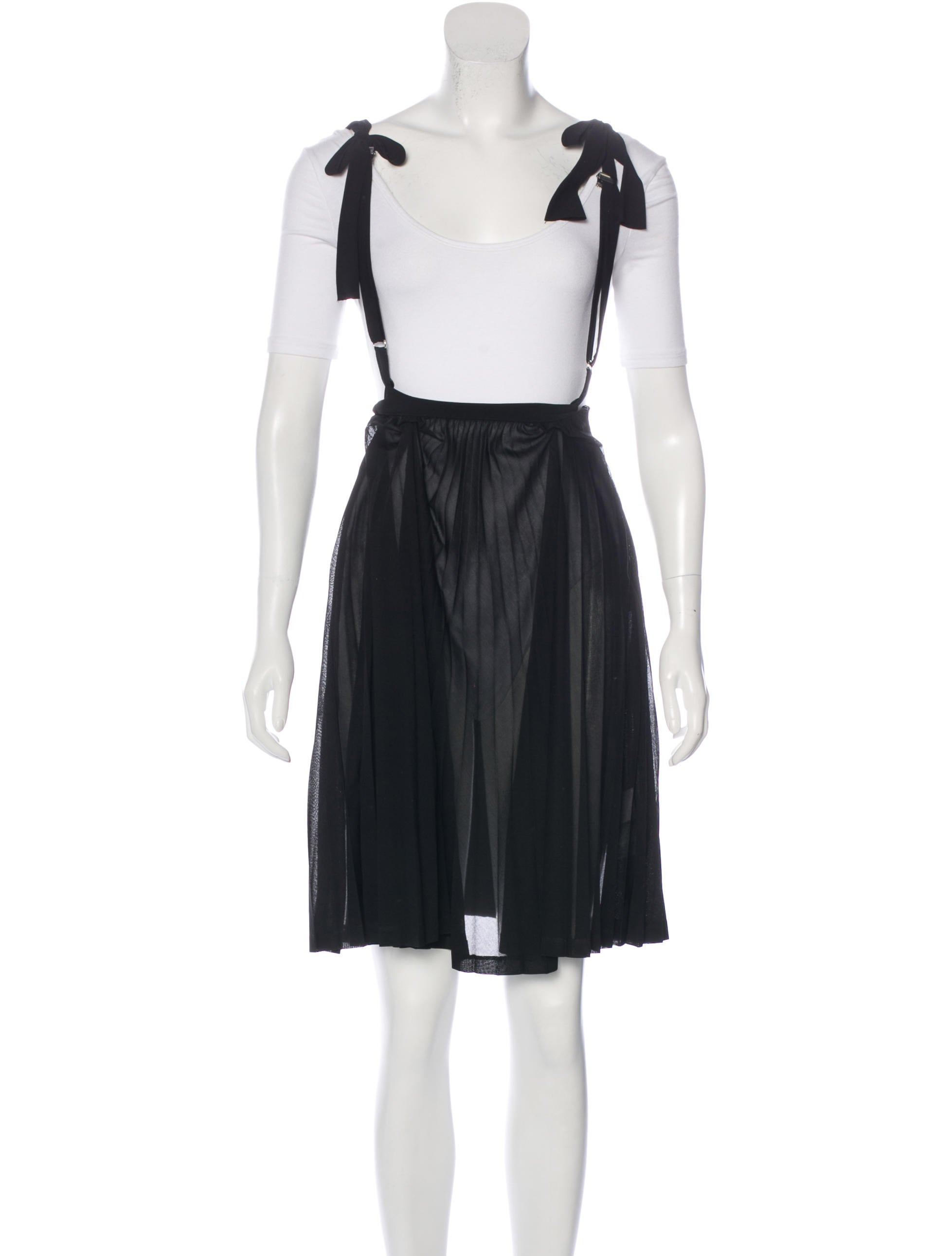 toga pleated suspender skirt clothing wt420211 the