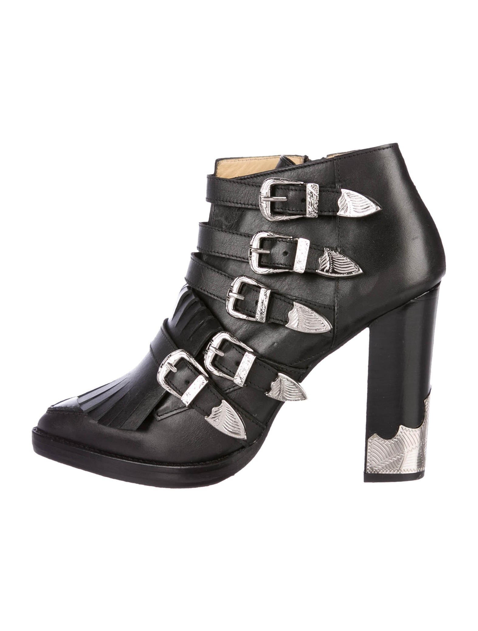 Toga Leather Buckle-Embellished Ankle Boots release dates online sale 2014 free shipping outlet store from china online RqBviYCWnW