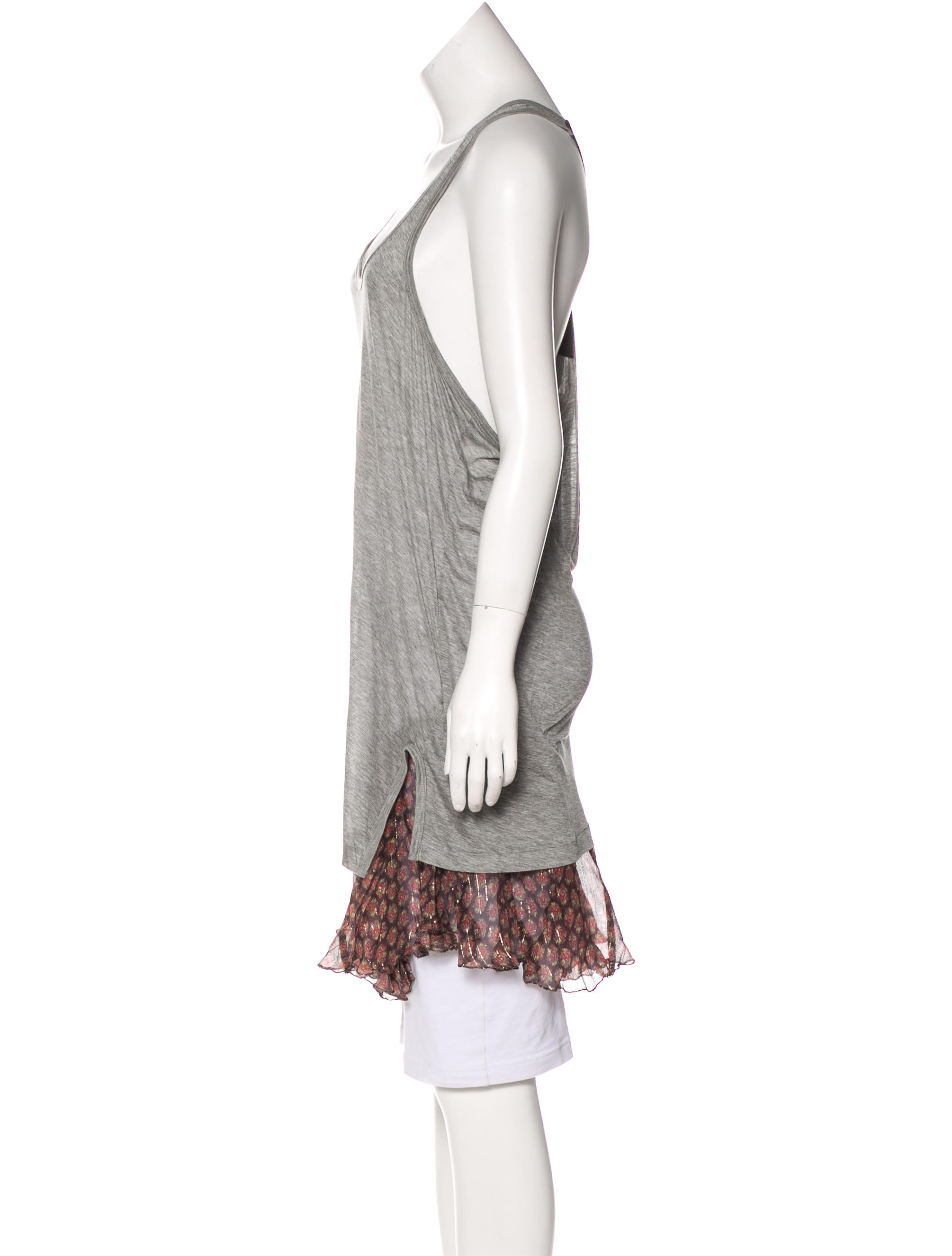 in clothing top sleeveless vino drapes lyst drape normal product tank gallery chaser red draped back