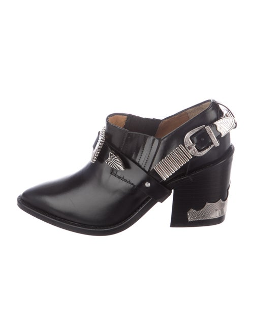 Toga Leather Boots Black