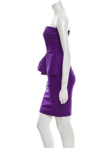 Torn  Strapless Peplum Dress