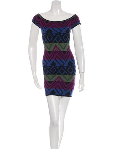 Torn by Ronny Kobo Wool Bodycon Dress None