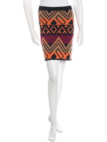 Torn by Ronny Kobo Wool Mini Skirt None