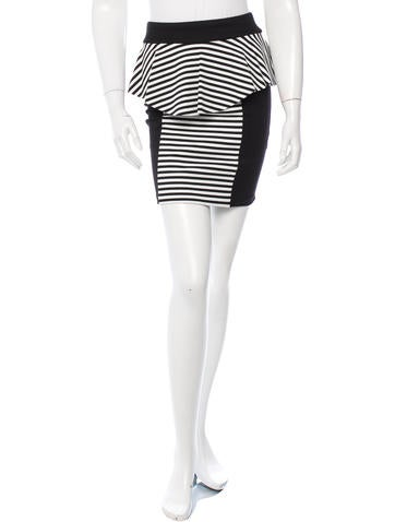 Torn by Ronny Kobo Striped Pencil Mini Skirt w/ Tags