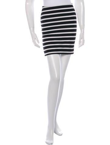 Torn by Ronny Kobo Stripe Mini Skirt