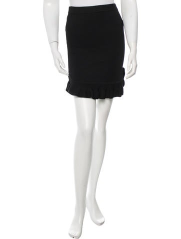 Torn by Ronny Kobo Ruffle-Accented Mini Skirt w/ Tags None