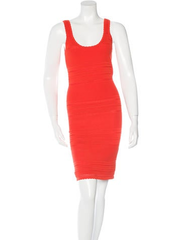 Torn by Ronny Kobo Rib Knit Bodycon Dress None