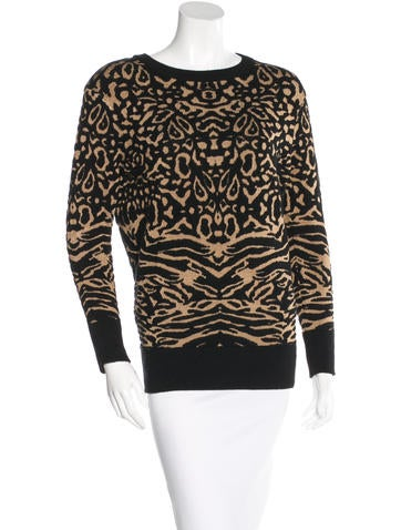 Torn by Ronny Kobo Abstract Pattern Knit Sweater None