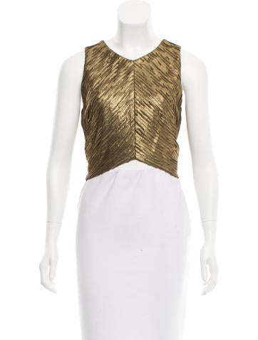 Sleeveless Textured Crop Top w/ Tags