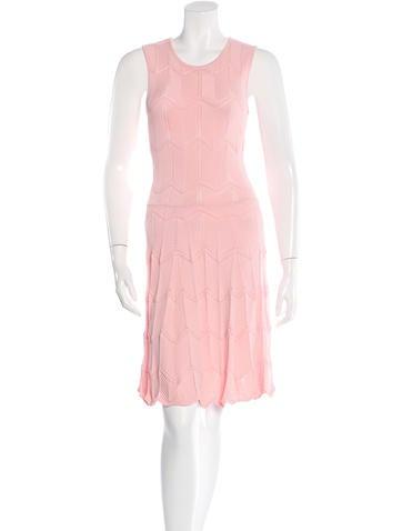 Torn by Ronny Kobo Rib Knit Midi Dress None