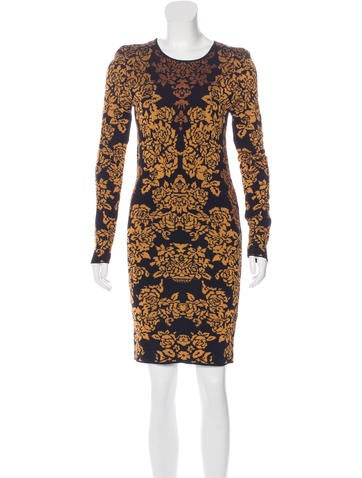 Torn by Ronny Kobo Intarsia Long Sleeve Dress None