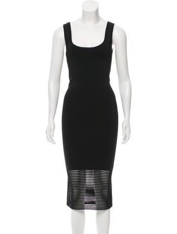 Torn by Ronny Kobo Open Knit Bodycon Dress None
