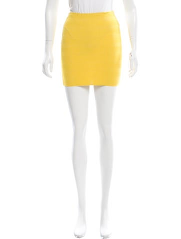 Torn by Ronny Kobo Bodycon Mini Skirt None