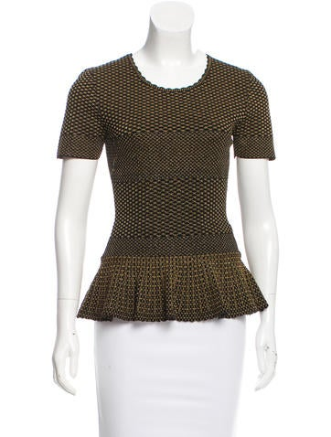 Torn by Ronny Kobo Patterned Peplum Top None