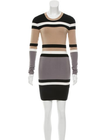 Torn by Ronny Kobo Striped Sweater Dress None