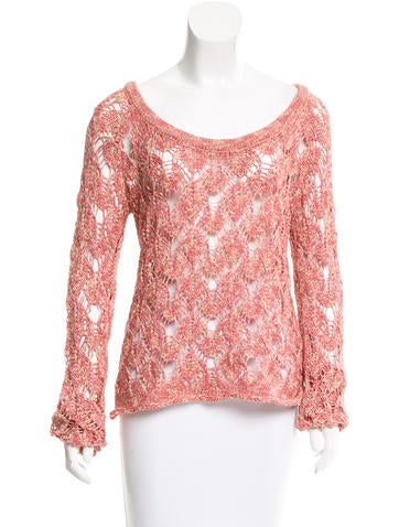 Torn by Ronny Kobo Bateau Neck knit Top None