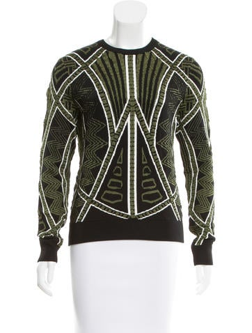 Torn by Ronny Kobo Textured Intarsia Sweater None