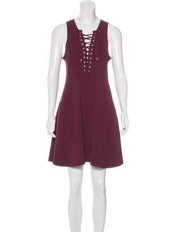 Torn by Ronny Kobo Ribbed Lace-Up Dress w/ Tags None