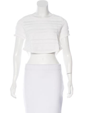 Torn by Ronny Kobo Rib Knit Crop Top None