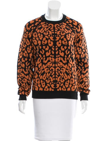 Torn by Ronny Kobo Leopard Patterned Sweater None