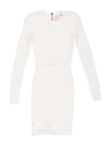 Torn by Ronny Kobo Long Sleeve Bodycon Dress None