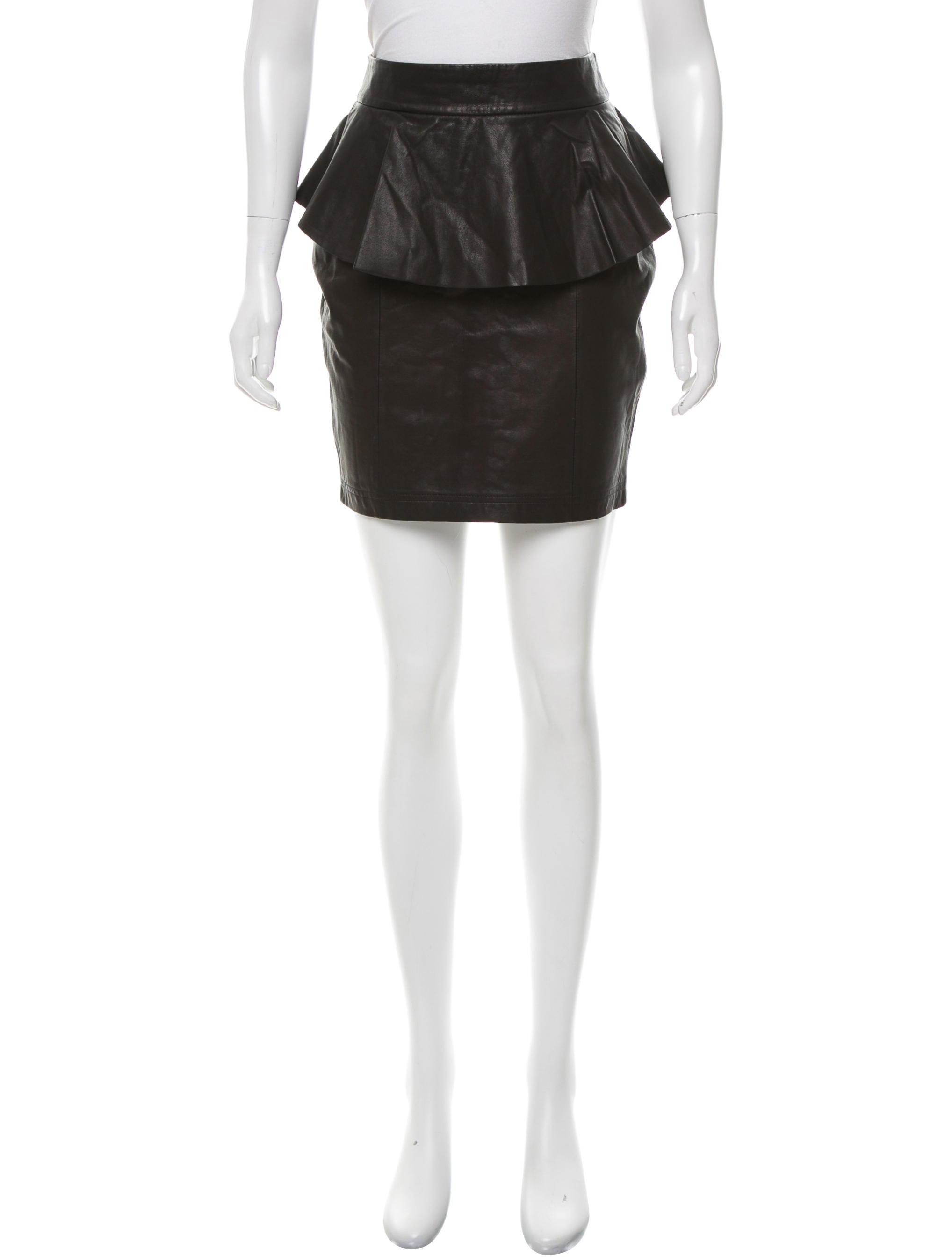 torn by ronny kobo leather peplum skirt clothing