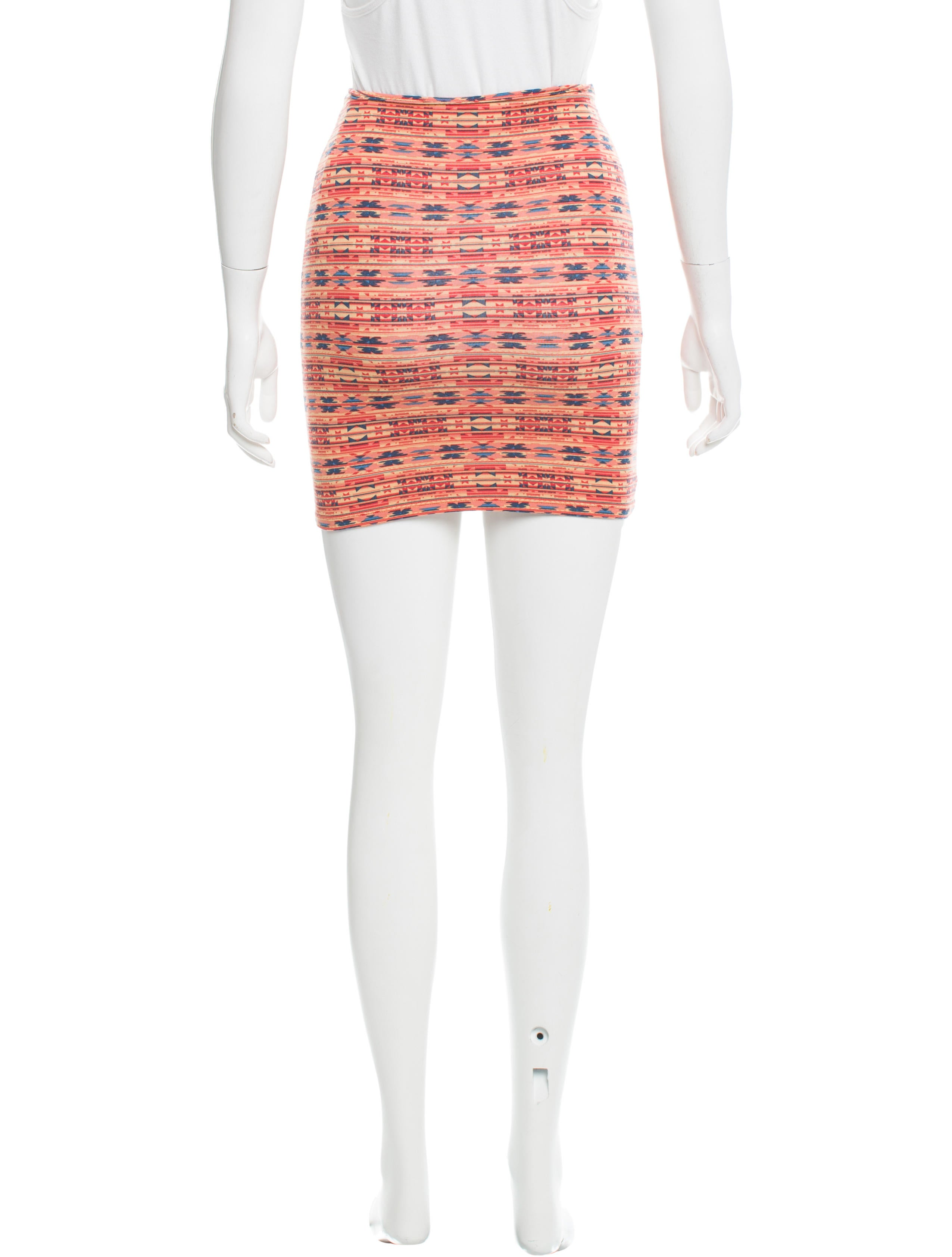 torn by ronny kobo abstract print pencil skirt clothing