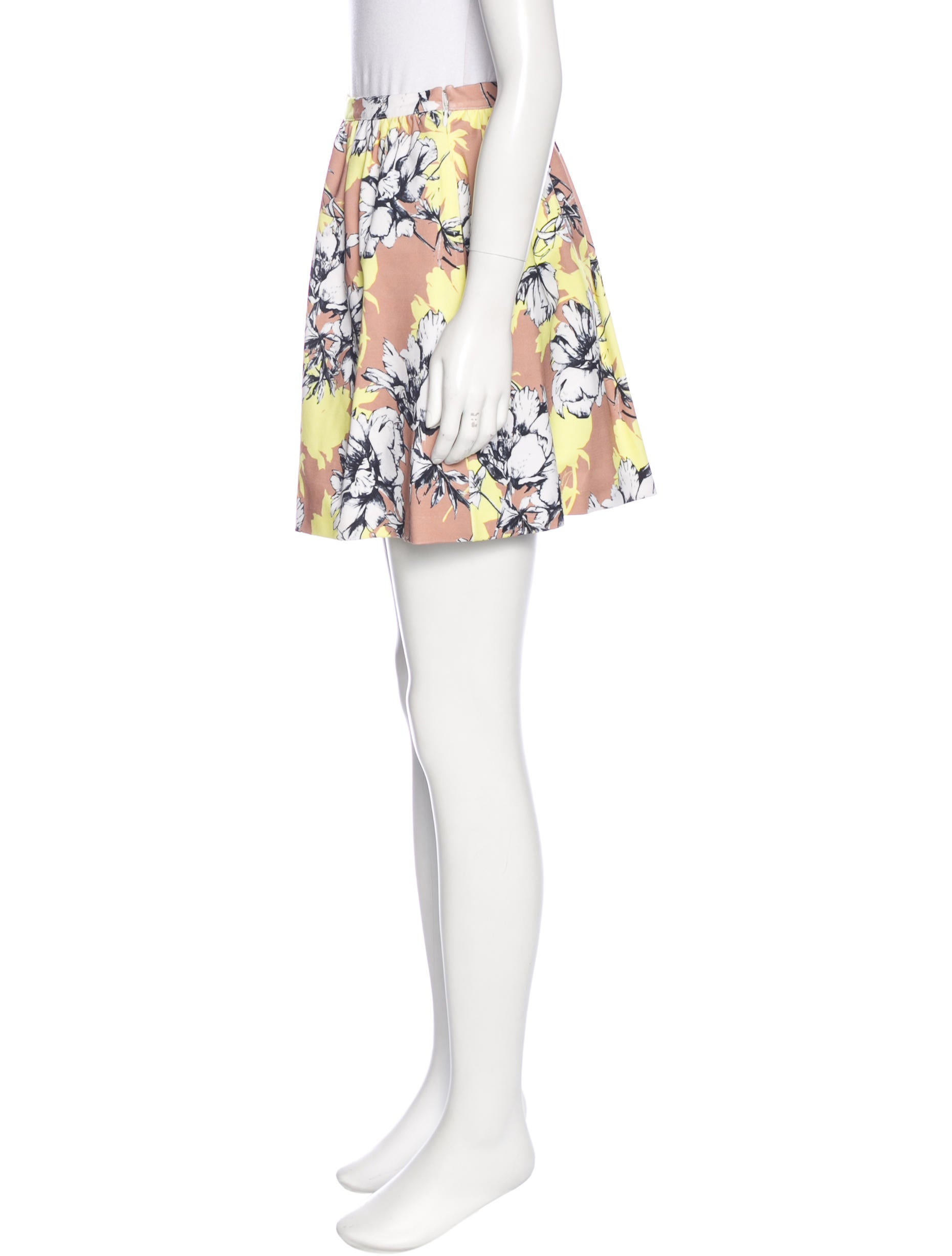 torn by ronny kobo floral print mini skirt clothing