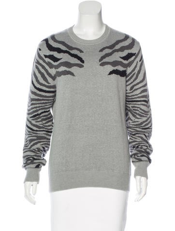 Torn by Ronny Kobo Knit Patterned Sweater None