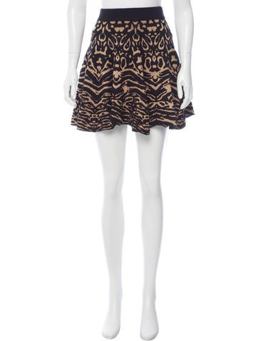 Torn by Ronny Kobo Jacquard A-Line Skirt None