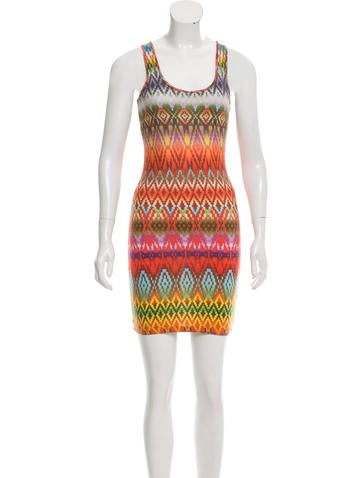 Torn by Ronny Kobo Printed Bodycon Dress None