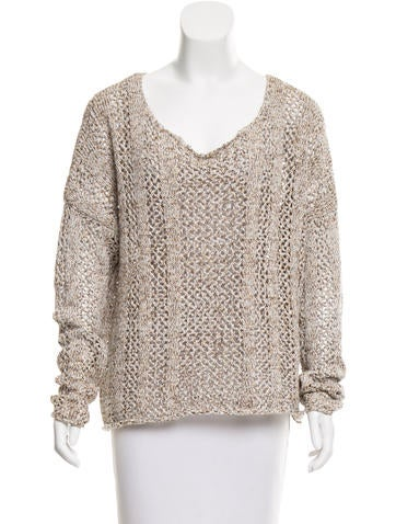 Torn by Ronny Kobo Long Sleeve Knit Sweater None