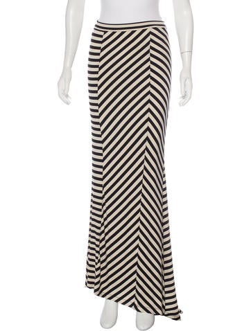 Torn by Ronny Kobo Striped Maxi Skirt w/ Tags None