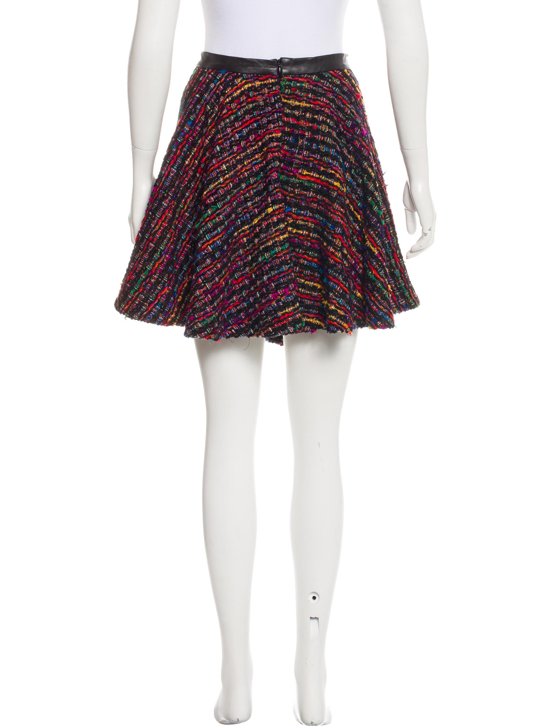 torn by ronny kobo tweed mini skirt clothing wt523161