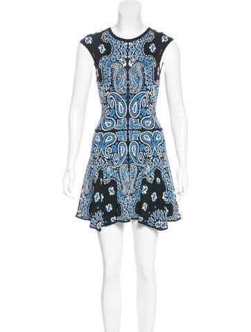 Torn by Ronny Kobo Jacquard A-Line Dress None