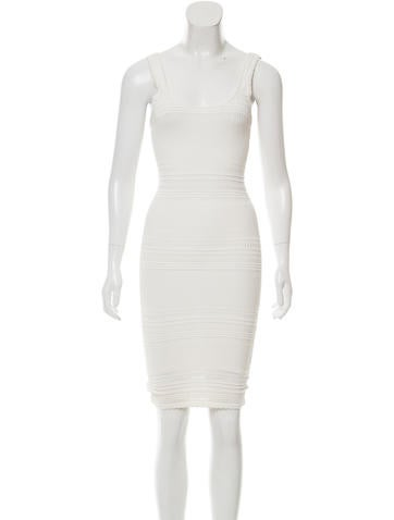 Torn by Ronny Kobo Bodycon Midi Dress None