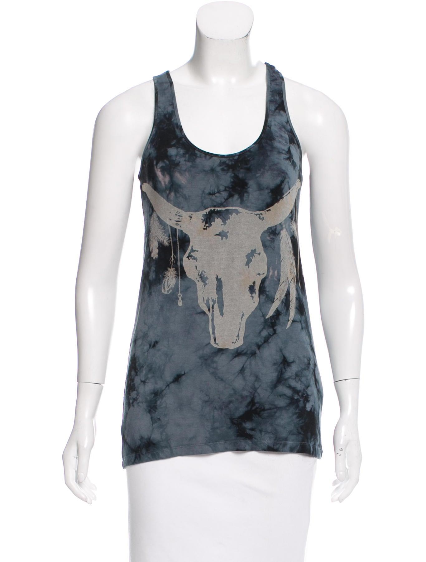 Torn by ronny kobo sleeveless tie dye t shirt clothing for Tie dye sleeveless shirts