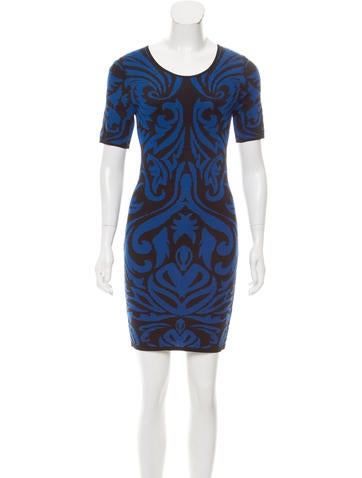 Torn by Ronny Kobo Patterned Knit Dress w/ Tags None