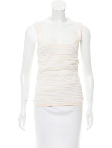 Torn by Ronny Kobo Textured Sleeveless Top None
