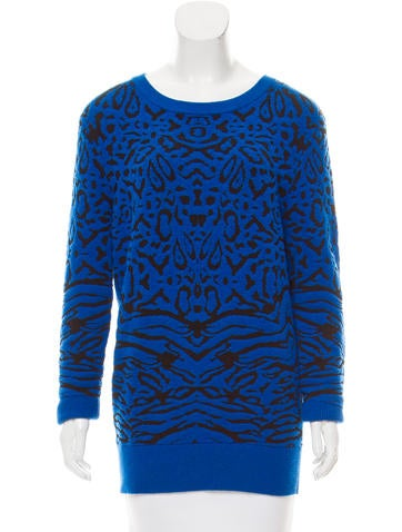 Torn by Ronny Kobo Textured Rib Knit Sweater None