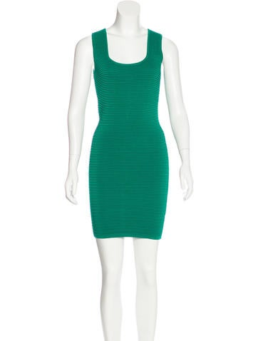 Torn by Ronny Kobo Textured Bodycon Dress None