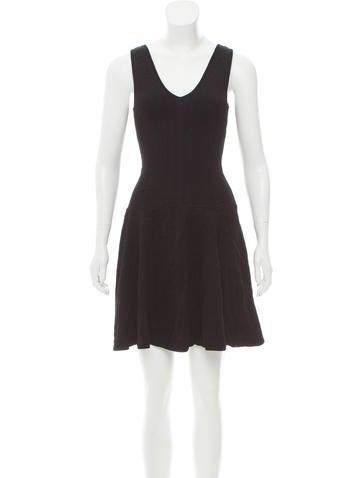 Torn by Ronny Kobo Jacquard Mini Dress None