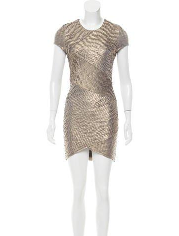 Torn by Ronny Kobo Metallic Bodycon Dress None