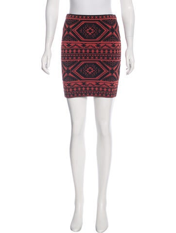 Torn by Ronny Kobo Jacquard Knit Mini Skirt None