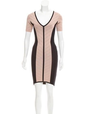 Torn by Ronny Kobo Colorblock Bodycon Dress None