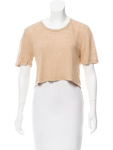 Torn by Ronny Kobo Knit Crop Top None