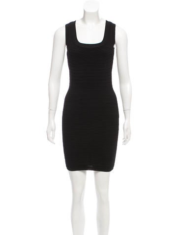 Torn by Ronny Kobo Ribbed Mini Dress None
