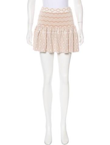 Torn by Ronny Kobo Pleated Mini Skirt None