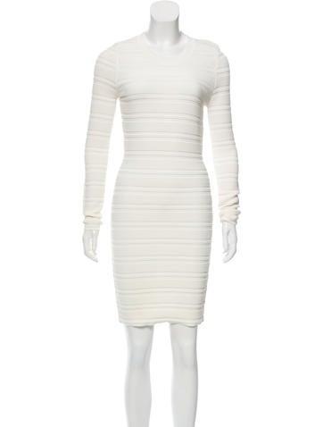Torn by Ronny Kobo Rib Knit Bodycon Dress None
