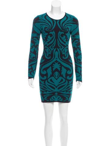 Torn by Ronny Kobo Pattern Knit Mini Dress None